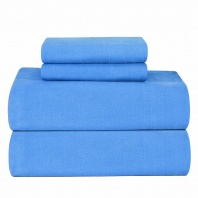 Pointehaven Heavy Weight Solid Flannel 100-Percent Cotton Sheet Set