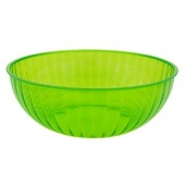 NorthWest Enterprises Party Essentials Heavy Duty Brights Plastic Large Serving Bowl, 192-Ounce Capacity